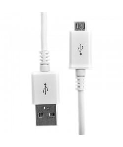 Cablu USB MicroUSB Procell Alb