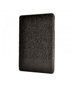 Husa Comma Charming Black (motiv floral embosat) - iPad Mini 3