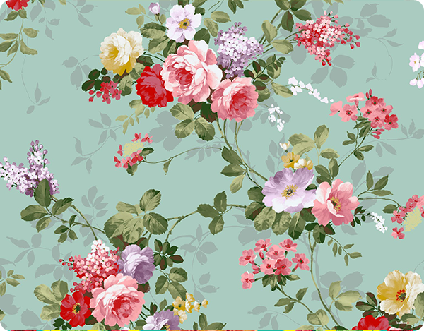 Retro Flowers Wallpaper