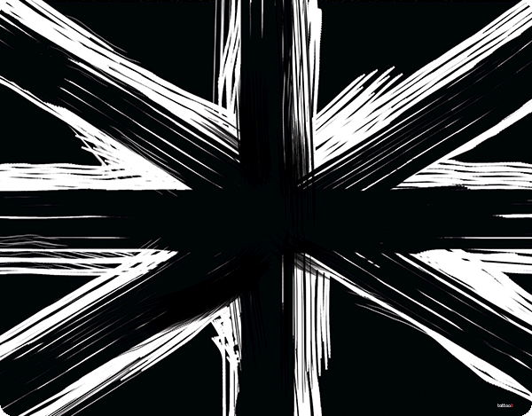 Black UK Flag