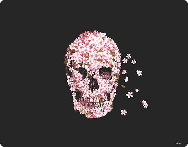 Cherry Blossom Skull