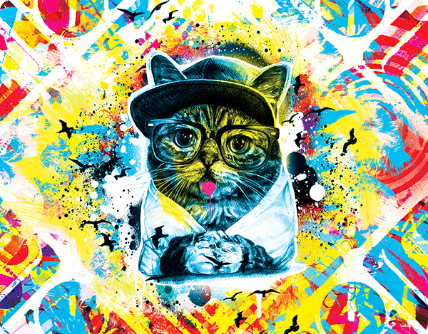 Hipster Meow