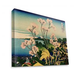 Hokusai - The Fuji from Gotenyama at Shinagawa on the Tokaido - Canvas Art 75x60