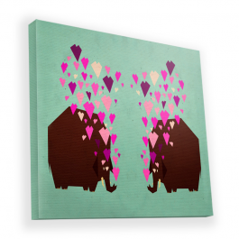 Elephant Love - Canvas Art 90x90