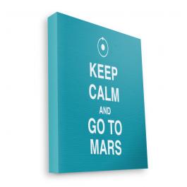 Keep Calm and Go to Mars - Canvas Art 60x75