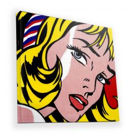 Blonde Girl - Canvas Art 90x90