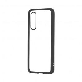 Devia Pure Style Black - Huawei P20 Carcasa (antishock, spate dur si margini mate si flexibile)