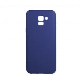 Procell Silky - Samsung Galaxy J6 (2018) Carcasa Silicon Albastru Inchis
