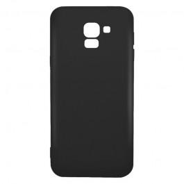 Just Must Candy Black - Samsung Galaxy J6 (2018) Carcasa Silicon Negru