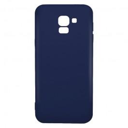 Just Must Candy Navy - Samsung Galaxy J6 (2018) Carcasa Silicon Albastru