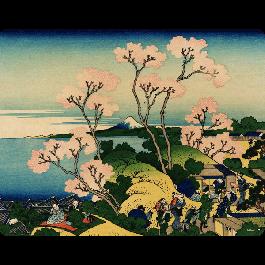 Hokusai - The Fuji from Gotenyama at Shinagawa on the Tokaido - Skin Telefon