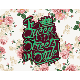 Queen of the Streets - Floral White - Skin Telefon