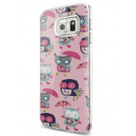 Pastel Owls - Samsung Galaxy S7 Edge Carcasa Silicon