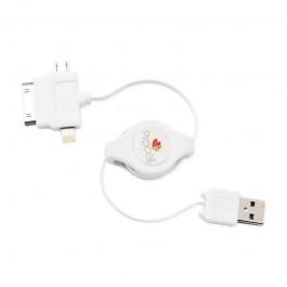 Cablu Retractabil Lightning/30pini/microUSB Procell Multicablu