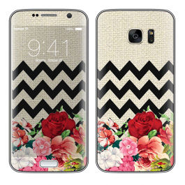 Floral Contrast - Samsung Galaxy S7 Edge Skin
