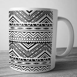 Cana personalizata - Tribal Black & White