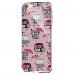 Pastel Owls - iPhone 6 Carcasa Transparenta Silicon