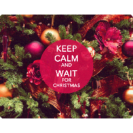 Keep Calm and Wait for Christmas - Skin Telefon