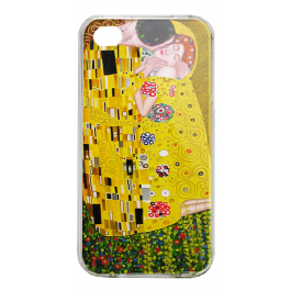 Gustav Klimt - The Kiss - iPhone 4/4S Carcasa Alba/Transparenta Plastic