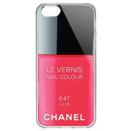 Chanel Lilis Nail Polish - iPhone 5/5S/SE Carcasa Transparenta Silicon