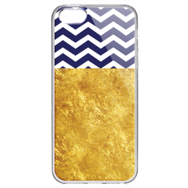 Chevron - iPhone 5/5S Carcasa Transparenta Plastic