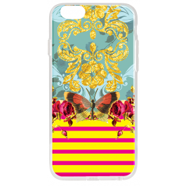 Butterfly Effect - iPhone 6 Plus Carcasa Transparenta Silicon