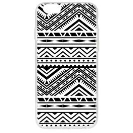 Tribal Black & White - iPhone 6 Plus Carcasa Transparenta Silicon
