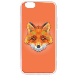 Origami Fox - iPhone 6 Plus Carcasa Transparenta Silicon