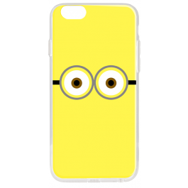 Minion Eyes - iPhone 6 Plus Carcasa Transparenta Silicon