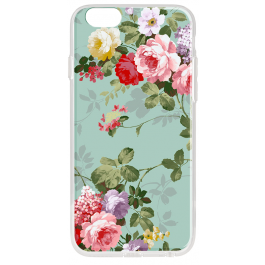 Retro Flowers Wallpaper - iPhone 6 Plus Carcasa Transparenta Silicon