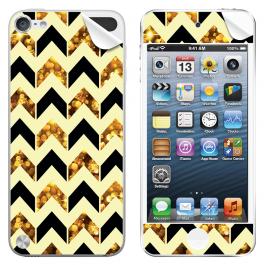 Black & Gold -  Apple iPod Touch 5th Gen Skin