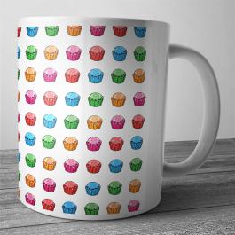 Cana personalizata - Cupcake Pattern