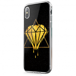 Diamond - iPhone X Carcasa Transparenta Silicon
