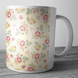 Cana personalizata - Pastel Flowers Wallpaper