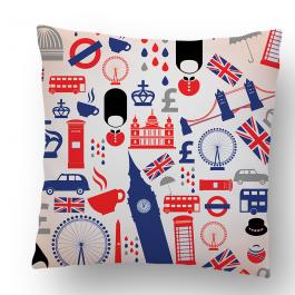 Perna decorativa - London Collage