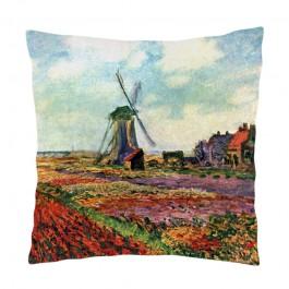 Perna decorativa - Claude Monet - Fields of Tulip With The Rijnsburg Windmill