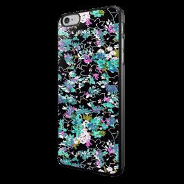 Floral Black - iPhone 6/6S Carcasa Neagra TPU