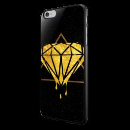 Diamond - iPhone 6/6S Carcasa Neagra TPU