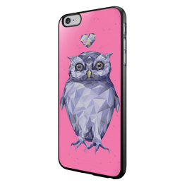 I Love Owls - iPhone 6/6S Carcasa Neagra TPU