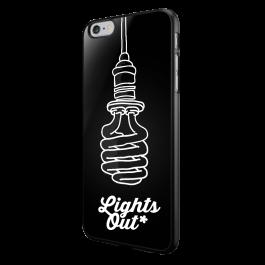 Lights Out - iPhone 6/6S Carcasa Neagra TPU