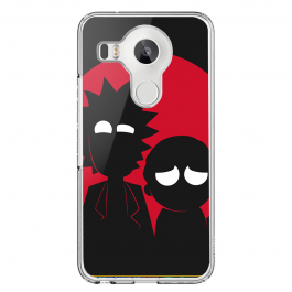 Rick and Morty - LG Nexus 5X Carcasa Transparenta Silicon
