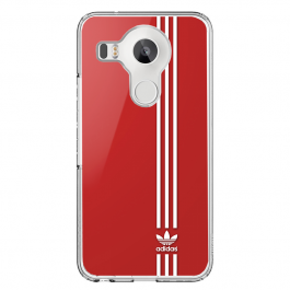 Red Adidas - LG Nexus 5X Carcasa Transparenta Silicon