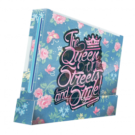Queen of the Streets - Floral Blue - Nintendo Wii Consola Skin