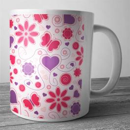 Cana personalizata - Love Pattern
