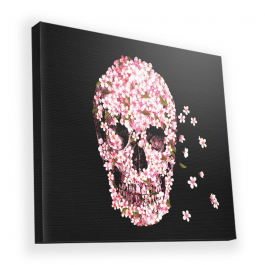 Cherry Blossom Skull - Canvas Art 90x90