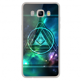 Triangle Galaxy 2 - Samsung Galaxy J7 Carcasa Silicon Transparent