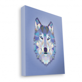 Origami Wolf - Canvas Art 35x30