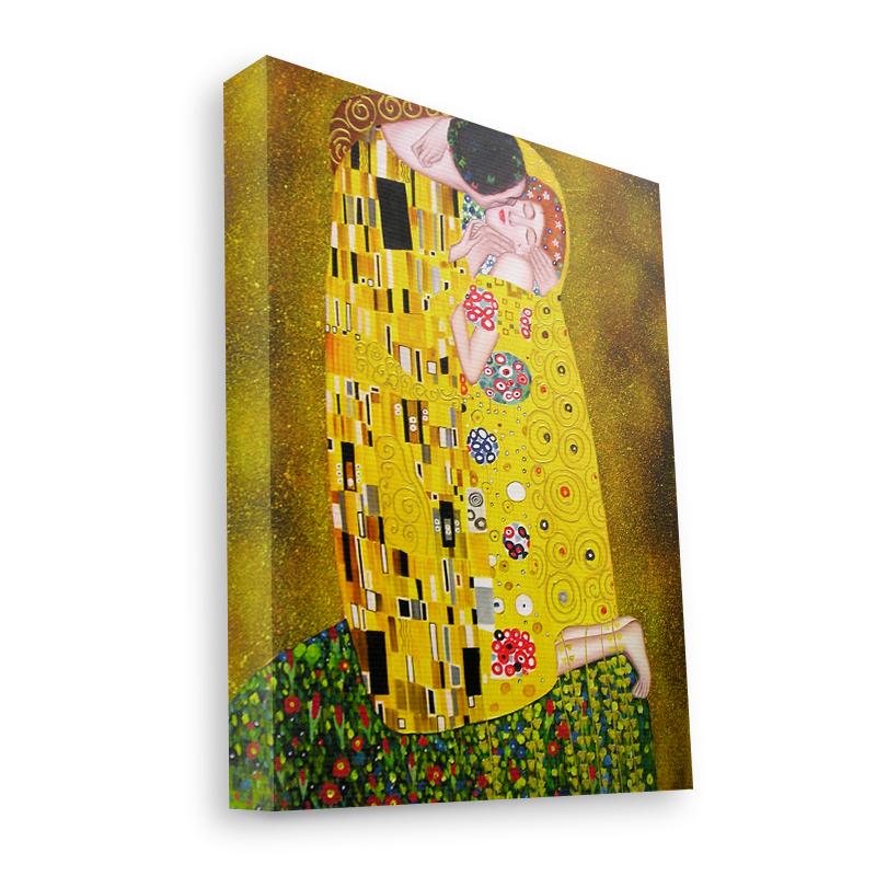 Gustav Klimt - The Kiss - Canvas Art 35x30