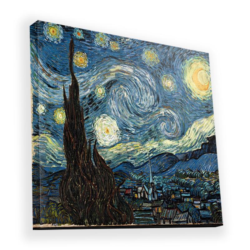 Van Gogh - Starry Night - Canvas Art 45x45