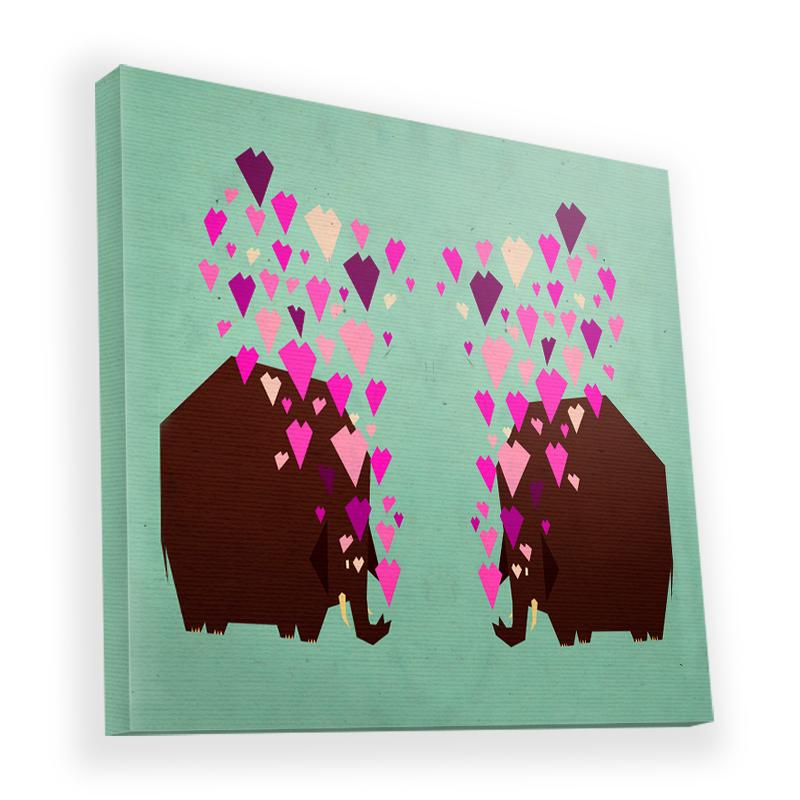 Elephant Love - Canvas Art 45x45